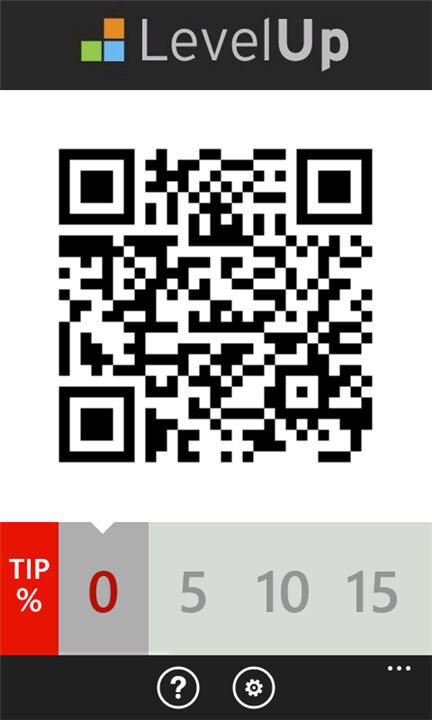 Screenshots from the LevelUp app for Windows Phone - LevelUp mobile payment system now available for Windows Phone