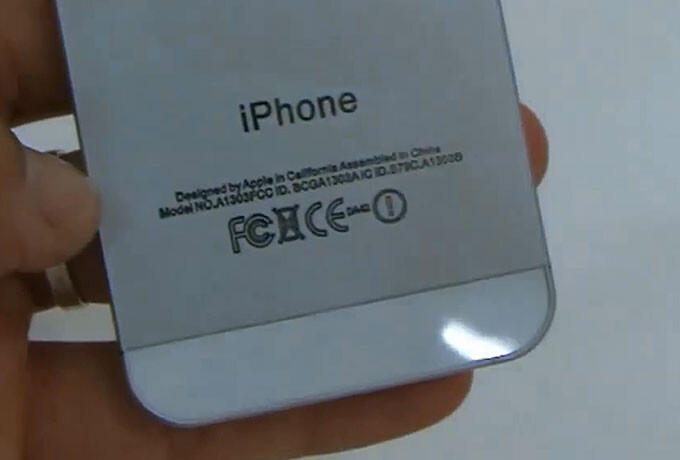 Both the Model number and the FCC ID belong to the Apple iPhone 3GS - Video shows realistic mock-up of Apple iPhone 5
