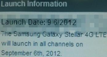 Samsung Galaxy Stellar 4G LTE coming to Verizon on September 6th