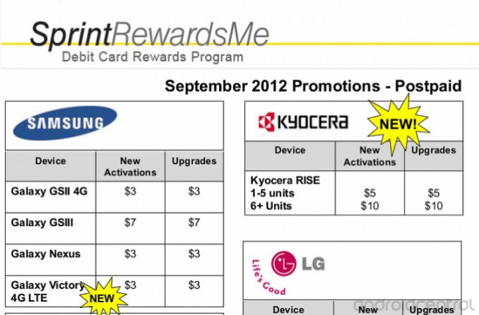 This leaked internal employee promotion points to a September launch for the Samsung Galaxy Victory 4G LTE - Leaked Sprint internal promotion reveals the Samsung Galaxy Victory 4G LTE to launch this month