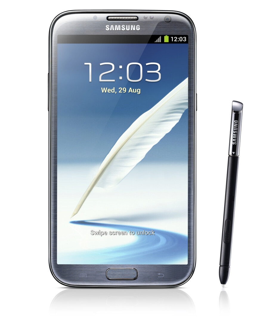 The Samsung GALAXY Note II - Accessories for Samsung GALAXY Note II make rainbow like appearance at IFA