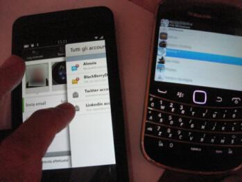 More screenshots of BlackBerry 10