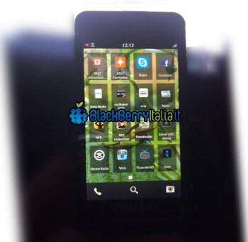 Screenshot allegedly of BlackBerry 10 OS