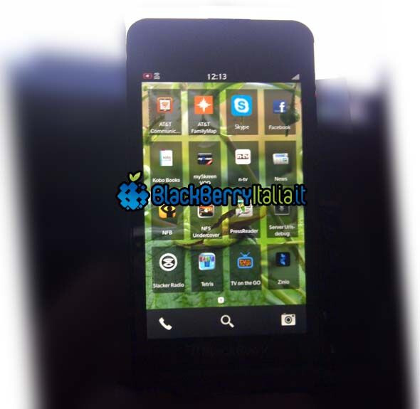 Screenshot allegedly of BlackBerry 10 OS - Leaked screenshots show BlackBerry 10 OS photographed for posterity