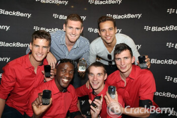 South African's Gold Medal winners received a Gold BlackBerry Bold 9900 from RIM