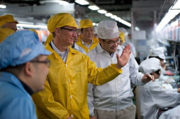 Apple CEO Tim Cook visits a Foxconn  facility in Zhengzhou, China