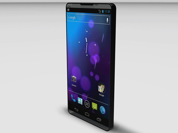 Is this what the Motorola bezel-free model will look like? - Rendering of Motorola's edge-to-edge bezeless phone shows how the concept might look