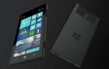 A fan-made render of a possible future Microsoft Surface Phone.