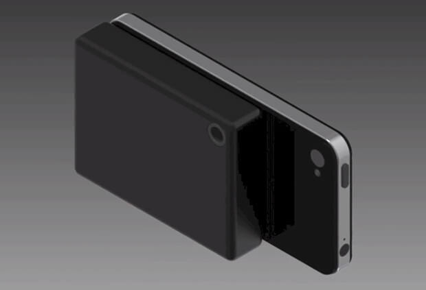 Dawson's 64 zone sensor hooks up to the iPhone's dock connector - Inventor turns Apple iPhone into thermal imaging camera