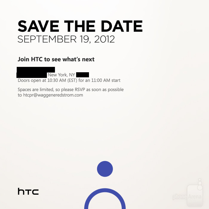 HTC announces event on September 19th in New York