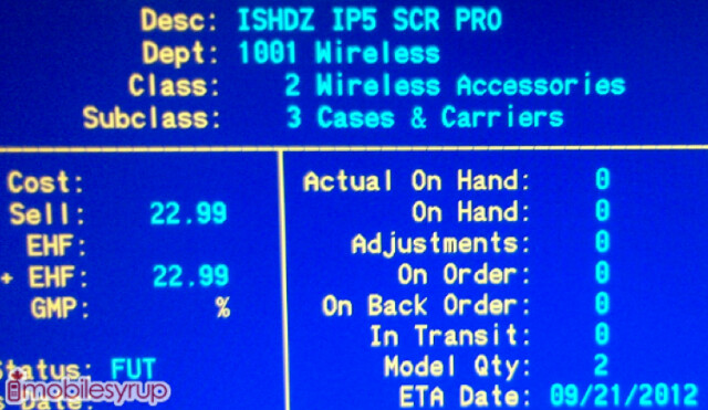 This leaked screenshot suggests a September 21st launch of the Apple iPhone 5 - Leaked screenshot of inventory screen confirms September 21st launch of Apple iPhone 5