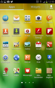 Screenshots from the new OTA update for the Samsung GALAXY Note
