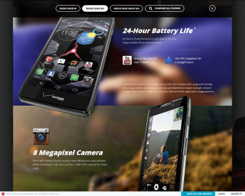 "Dedicated ""RAZR"" site shows off the DROID RAZR M, RAZR HD, and RAZR MAXX HD"