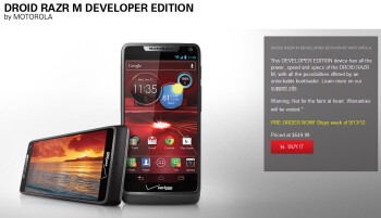 Motorola DROID RAZR HD and DROID RAZR M developer editions incoming