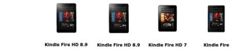 Amazon Kindle Fire HD: a family portrait spec comparison
