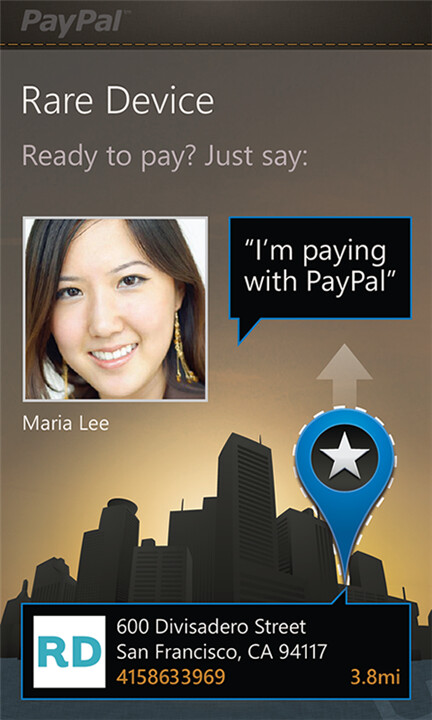 PayPal for Windows Phone