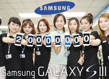 20,000,000 units of the Samsung Galaxy S III have been sold