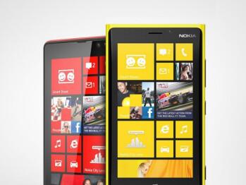 The Nokia Lumia 920 (in foreground) and the Nokia Lumia 820