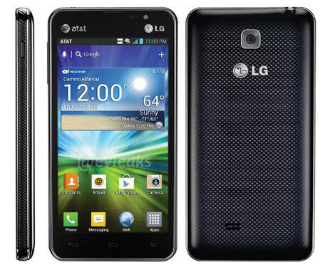 The mid-range LG Escape - LG P870 Escape poses for picture wearing AT&T clothes