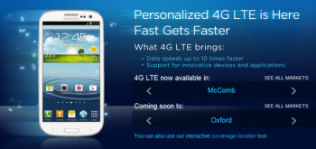 Regional carrier C Spire has started very limited 4G LTE service is Mississippi