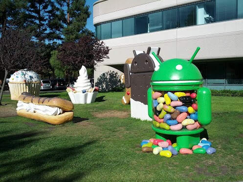 The Jelly Bean statue is back at Google - 500 million Android devices activated around the world