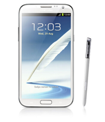 The son of phablet, the Samsung GALAXY Note II