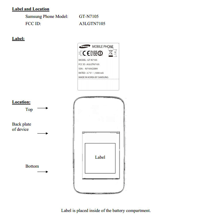 Samsung Galaxy Note II spotted at the FCC