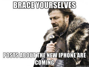 Brace yourselves: the Apple iPhone machine is revving up