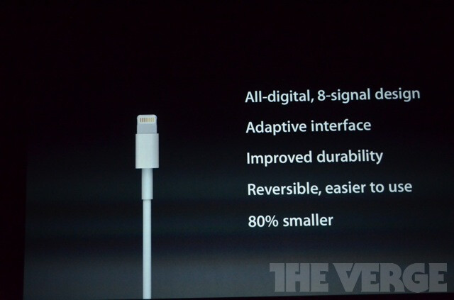 Apple intros a smaller dock connector and calls it Lightning, but fret not, there will be an adapter