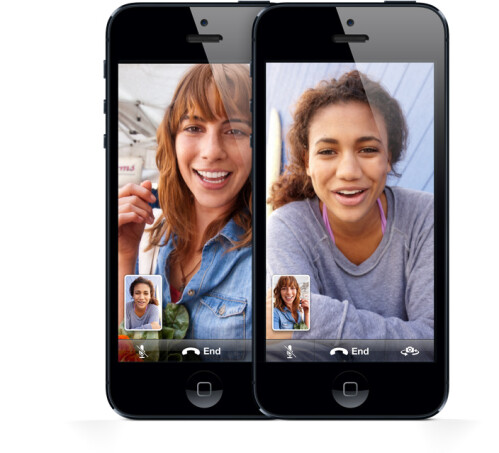 FaceTime is enabled over the cellular network (if AT&T allows it!)