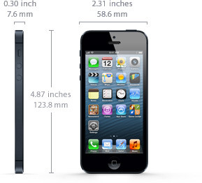 The iPhone 5 is 18% thinner and 20% lighter