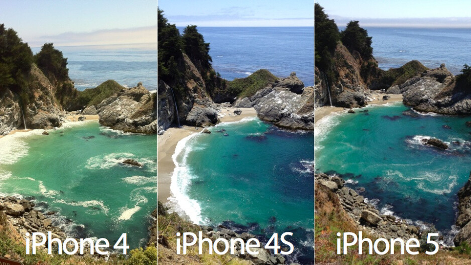 Picture of Big Sur taken with the iPhone 5 and an iPhone 4S analyzed, there might be a bigger sensor now
