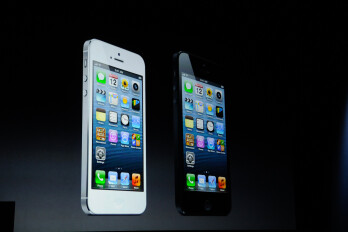 The Apple iPhone 5 is available in the usual two colors
