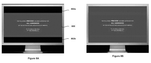 Apple's patent covers a technique for filing in the gaps on letterboxed video playing on the Apple iPhone - Apple files patent to fill in gaps on screen during letterboxed video