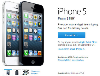 iPhone 5 pre-orders are now live