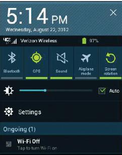 Screenshots from the Samsung GALAXY Tab 10.1 update
