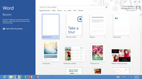 Microsoft Office Windows 8
