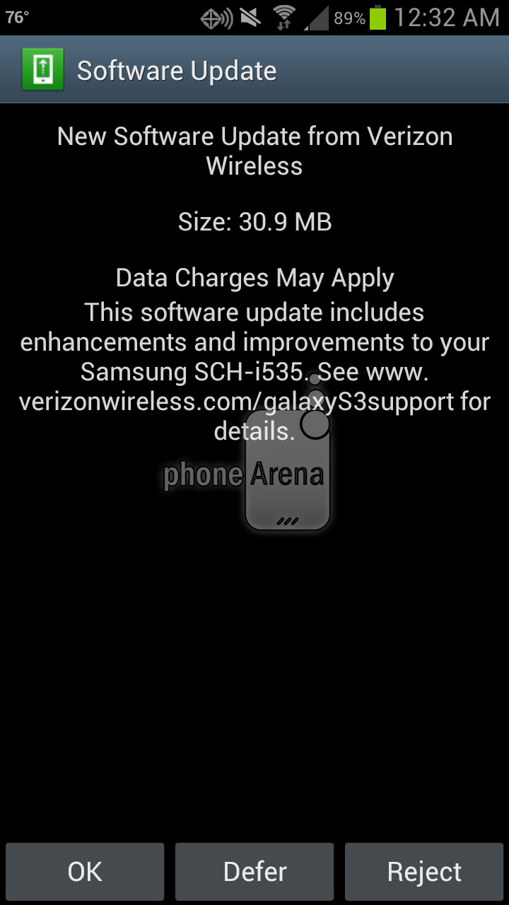 Verizon pushes out the G7 software update for the Samsung Galaxy S III