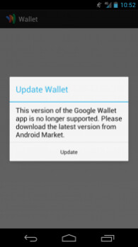Google Wallet will no longer be supported on Verizon's Samsung GALAXY Nexus