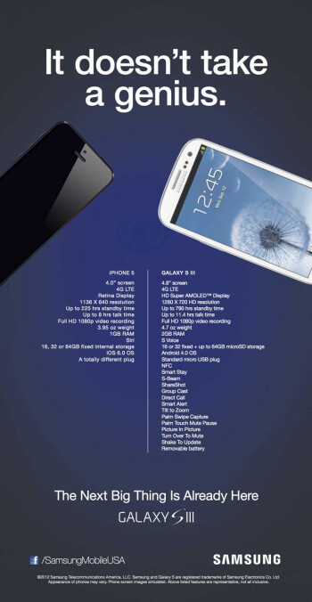 Here's the ad Samsung is running against the iPhone 5 launch nationwide