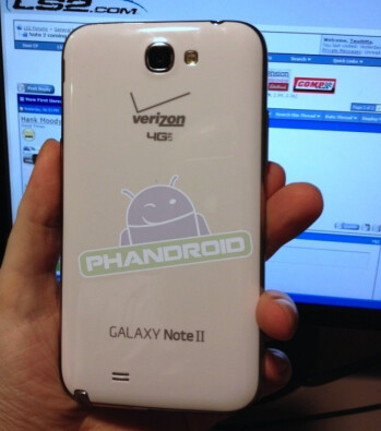The Verizon version of the Samsung GALAXY Note II, check the branded home button