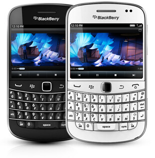 BlackBerry models, like the BlackBerry Bold 9900 pictured here, are no longer allowed  for work use at Yahoo - Yahoo gives employees a list of smartphones to choose from for work