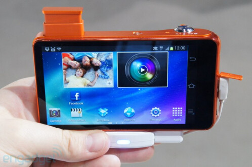 The Samsung Galaxy camera makes a splash in orange and pink at Photokina
