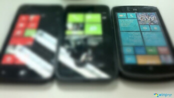 The phone on the left could be ZTE's Windows Phone 8 model