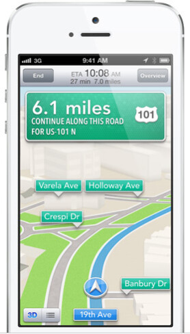 Maps gets turn-by-turn navigation