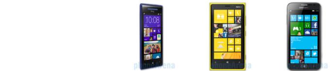HTC 8X vs Nokia Lumia 920 vs Samsung ATIV S specs comparison