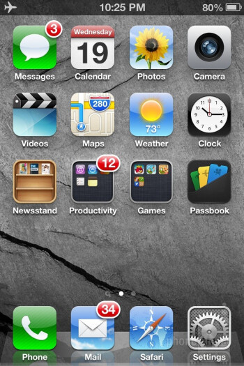 iOS 6 homescreen and settings