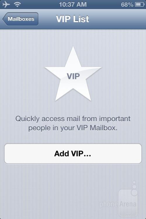 VIP mail inbox