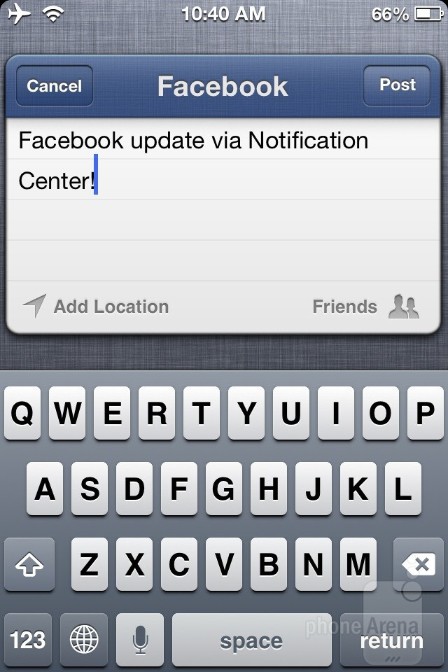 Facebook integration - iOS 6 Review