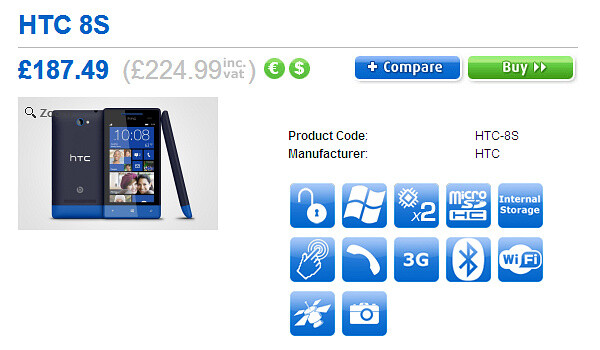 HTC Windows Phone 8X and 8S prices in Europe are revealed - HTC Windows Phone 8X and 8S get priced in Europe